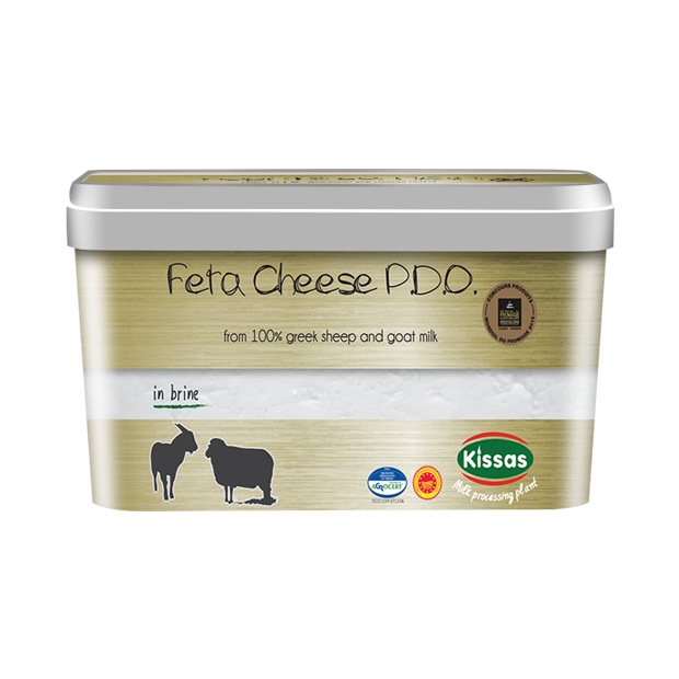 Feta in plastic container 900gr